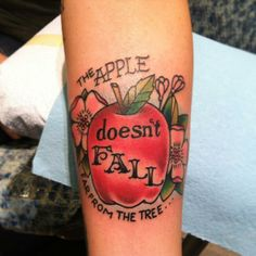 Traditional Apple Tattoo
