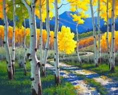 Douglas Aagard, Into the Canyon, oil, 24 x 30. - Southwest Art Magazine