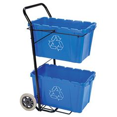 Recycling Bin Caddy -$49.95- Organize, store, and transport recyclables with ease  Our unique Recycling Bin Caddy takes the strain off your back and shoulders while saving space in your garage. Twin bin design lets you easily store and transport two Recycling Bins up to 150 lbs.