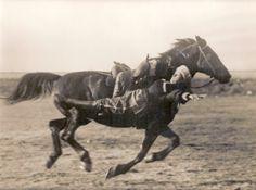 circassian rider, note the circassian saddle
