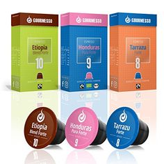 60 High Intensity Nespresso Compatible Coffee Capsules 100 Fair Trade  Includes Organic and Dark Roast Espresso Pods  Variety Pack  Gourmesso High Intensity Espresso Bundle -- This is an Amazon Associate's Pin. Detailed information can be found on Amazon website by clicking the VISIT button