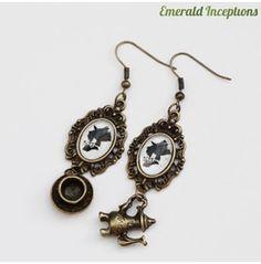 The Mad Hatter Alice Wonderland Earrings