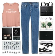 """""""#641 Egress"""" by mia5056 ❤ liked on Polyvore featuring A.P.C., Monki, Aesop, Tucano and Vans"""