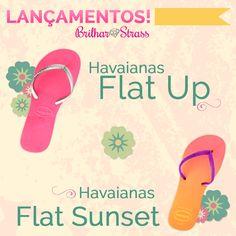Lançamento: Havaianas Flat. #havaianas #chinelocustomizado