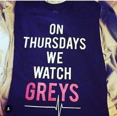 On Thursday's We Watch Greys Anatomy Black T shirt - Fresh-tops.com