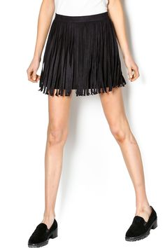 Mini faux suede fringe skirt with anInvisible zipper on the back waist with a hook and eye closure. Hand wash cold separately. Lay flat to dry. Narelle Fringe Skirt by BB Dakota. Clothing - Skirts - Statement Clothing - Skirts - Mini Missouri Illinois
