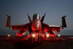 F-18 Hornet on deck