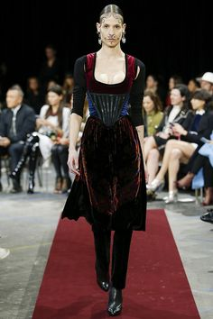 Givenchy Fall 2015 RTW Runway bodice/corset like belt for face