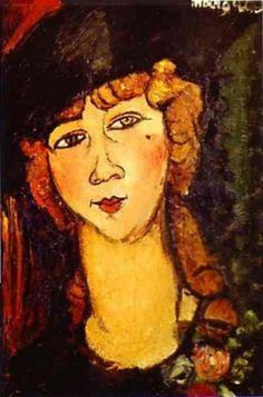 Modigliani, Amedeo - Renée the Blonde - Ecole de Paris - Oil on canvas - Portrait - Museu de Arte de Sao Paulo (MASP) - Sao Paulo, Brazil
