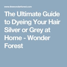 The Ultimate Guide to Dyeing Your Hair Silver or Grey at Home - Wonder Forest