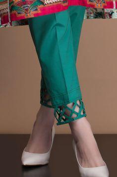 Zeenwomen Pants Cigarette Pant Colors design Zeen by Cambridge Neck Designs For Suits, Sleeves Designs For Dresses, Dress Neck Designs, Sleeve Designs For Kurtis, Salwar Designs, Kurta Designs Women, Kurti Designs Party Wear, Kurti Sleeves Design, Kurta Neck Design