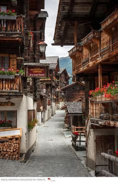 At the Grimentz Old Town in Switzerland.