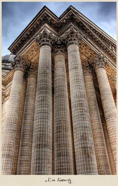 The Corinthian columns of the magnificent Panthéon in Paris - Photo © Ken Kaminesky Architecture Antique, Renaissance Architecture, Classical Architecture, Beautiful Architecture, Contemporary Architecture, Art And Architecture, Architecture Details, Art Nouveau, Chapelle