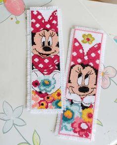 Minnie Daydreaming Bookmarks Cross Stitch Kit