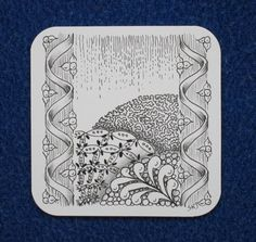 Sue's tangle trips: April showers (Tease of new tangle pattern)