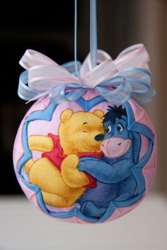 Winnie the Pooh Quilted Christmas Ornament by YouniqueOrnaments, $25.00