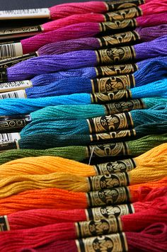 a most beautiful site...thread in every color!