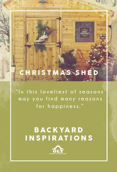 Decorating your shed for the Christmas season can bring an added feeling of holiday spirit for your home.  It can be a great place to enjoy that hot chocolate and even the perfect backdrop for a Christmas photo.