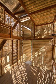forro / parede em bambú