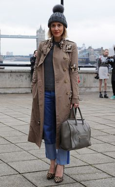 The trench, seen at LFW 2014