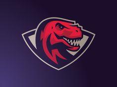 Trex by Mateusz Putylo Gfx Design, Game Logo Design, Badge Design, Sports Decals, Symbolic Representation, Esports Logo, Sports Team Logos, Logo Sticker, Creative Logo