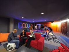 Inside one of Google's games rooms