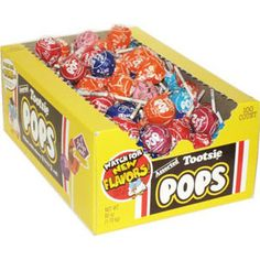 Tootsie Roll Tootsie Pops, Assorted Flavors, Box 100 assorted pops Watch for new flavors A fat free candy Bulk Candy, Hard Candy, Free Candy, Rainbow Lollipops, Snack Recipes, Snacks, Mini Donuts, Miniature Crafts, Favorite Candy