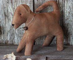 Primitive Folk Art Puppy Dog Home Decor Puppy by rockriverstitches