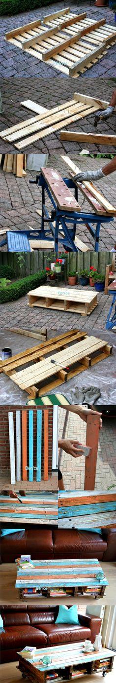 Mesa DIY con un par de palés - Vía ben-ce