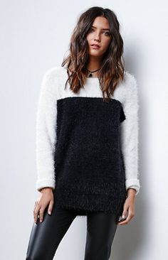 Eyelash Pullover Sweater