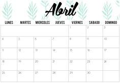 The Random Chaos: Calendarios de Abril 2016 | Imprimibles