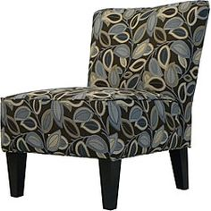 @Overstock - Hali Armless Designer Accent Chair Brown Modern Leaf - This Hali accent chair features a sturdy hardwood construction and brown upholstery with a modern leaf motif. This armless chair features a broad back, deep seat cushion and thick foam cushion for extraordinary comfort.  http://www.overstock.com/Home-Garden/Hali-Armless-Designer-Accent-Chair-Brown-Modern-Leaf/5093624/product.html?CID=214117 $194.99