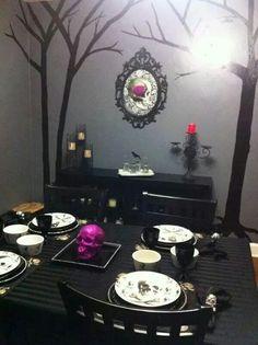 Skulls/Gothic dining room