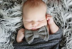 ADORABLE charcoal bow tie, newborn-toddler, only $12.99