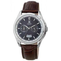 Momentus FD216S-05KS Men's Elegance Black Dial Brown Leather Strap Chronograph Watch