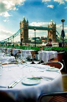 The Spectacular View from Le Pont de La Tour restaurant in London