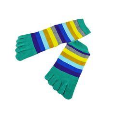 Hot Sale! Running Socks Women For Spring Summer and Autumn Striped Cotton Socks Yoga Sports Socks Five Fingers Woman Socks Jan09