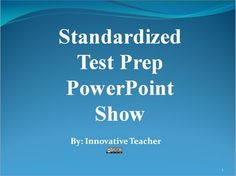 Standardized Test Prep PowerPoint Show {FREEBIE}