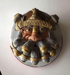 War Hammer Dwarf Cake by Storyteller Cakes Fondant Cake Designs, Fondant Cakes, Video Game Cakes, Fab Cakes, Cupcake Cookies, Cupcakes, Gravity Defying Cake, Fantasy Cake, Food Artists