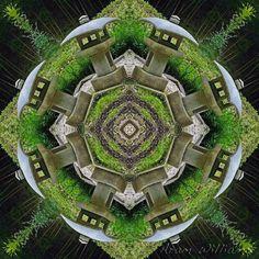 Garden Lanterns Mandala  8 x 8 Photographic Print door AramsEyes