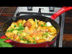 Chłopska patelnia / omlet /#Oddaszfartucha - YouTube One Pot Dinners, Polish Recipes, Paella, Bread Recipes, Make It Yourself, Cooking, Ethnic Recipes, Food, Youtube