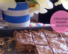 Super easy chocolate muesli squares @sophie hansen