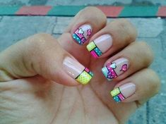 Spring nails design 10 – ImgTopic on Fashion Diy Quotes Beauty Tattoos Design Funny Images curated by Mandy Rove Love Nails, Fun Nails, Pretty Nails, Nail Designs Spring, Nail Art Designs, Mo S, Nail Decorations, Fabulous Nails, Creative Nails