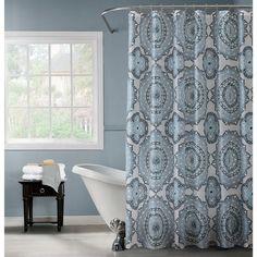 Bath Bliss PEVA Mandala Design Shower Curtain
