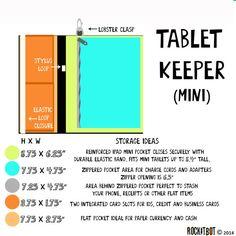 Tablet Keeper in Dapper for iPad iPad Mini iPad Air by rockitbot