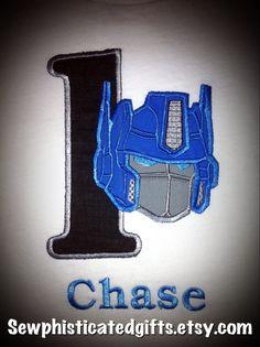Transformer birthday shirt on Etsy- if B still loves them by then
