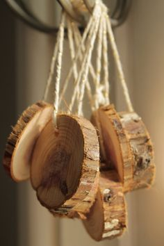 Rustic Christmas Ornaments Modern Rustic by HabitatHandcrafted