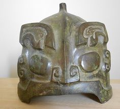 Ancient Chinese Warrior Helmet from the Shang Dynasty