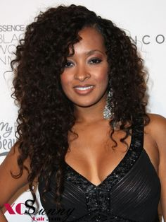 Pictures of Hairstyles for Women with relaxed hair Black Curly Hair, Long Curly Hair, Curly Hair Styles, Natural Hair Styles, Big Hair, Deep Curly, Wavy Hair, Relaxed Hair, Remy Human Hair