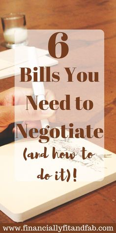 Looking for extra money in your budget? Start by negotiating these 6 bills and let me show you how to do it.